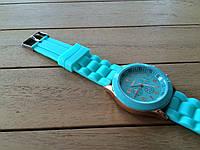 Часы силиконовые женские Geneva mint green