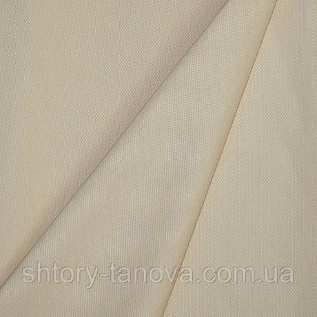 Тканина для скатертини дрібна рогожка КРЕМ ВГПР