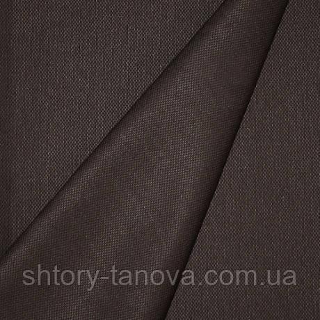 Ткань для скатерти мелкая рогожка Т.КОРИЧНЕВЫЙ ВГПР