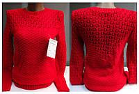 Женский свитер, красный