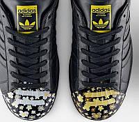 Кроссовки женские Adidas Superstar Pharrell Supershell Black (адидас) черные