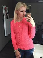 "Женский свитер ""Сердечки"", розовый, фото 1"