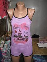Пижамы женские Майка узкая бретеля и шорты ANGEL Вискоза