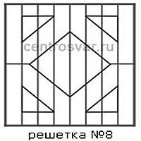 Кованая решетка 8
