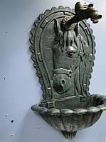 """Декоративный садовый настенный фонтан """"Лошадь"""""""