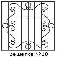 Кованая решетка 10