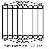 Кованая решетка 12