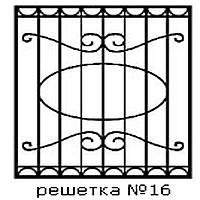 Кованая решетка 16