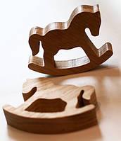 """Деревянная игрушка """"Лошадка-качалка"""""""