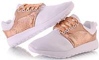 Спортивная женская обувь, кроссовки летние белого цвета