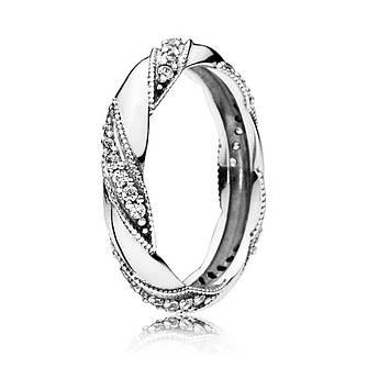 Кольцо «Лента любви» из серебра 925 пробы