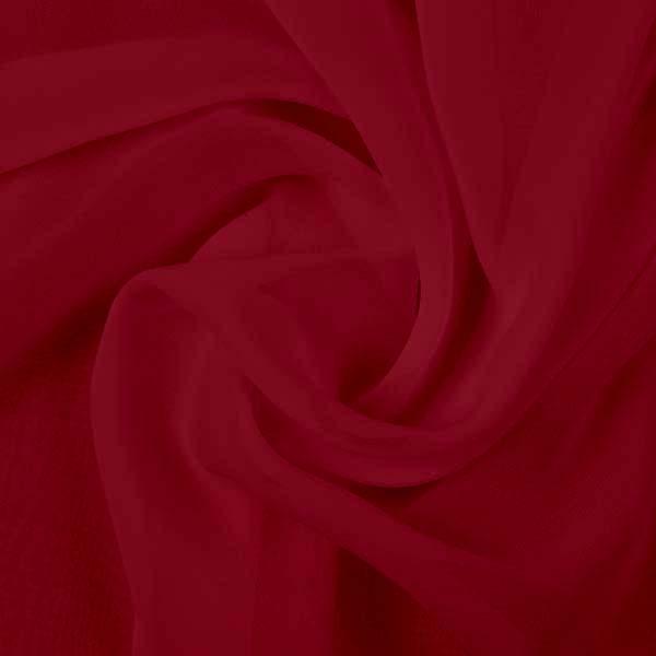 Ткань шифон однотонный, цвет бордовый