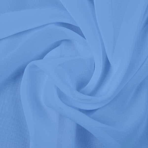 Ткань шифон однотонный, цвет голубой
