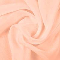 Ткань шифон однотонный, цвет персиковый