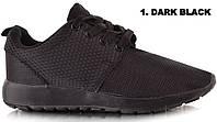 Черные Спортивная женская обувь, кроссовки летние