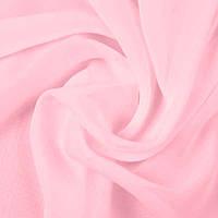 Ткань шифон однотонный, цвет розовый