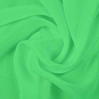 Ткань шифон салатовый однотонный