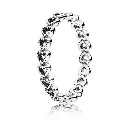 Кольцо «Соединенные сердца» из серебра 925 пробы
