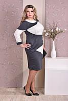 Женское платье больших размеров 0185 серое