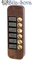 Цветная вызывная видео панель JSB-V086К PAL/NTSC, на 6 абонентов, 380 твл, ик-подсветка, корпус металл