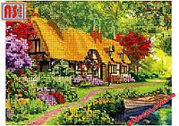"""Набор вышивка бисером """"Цветущий сад"""" А4 (частичная зашивка)"""
