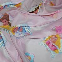 Тюль вуаль (шифон) принцессы, фон розовый