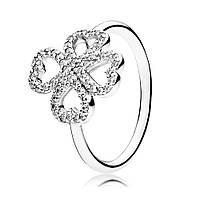 Кольцо Лепестки любви из серебра 925 пробы pandora