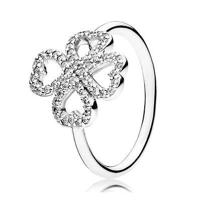 Кольцо «Лепестки любви» из серебра 925 пробы