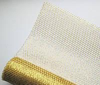 Сетка флористическая Metall glitter золото 70см х 5м