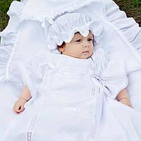 Детский капор Ажурный от Miminobaby белый  от Miminobaby белая