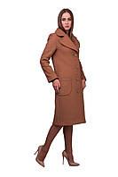 Женское классическое бежевое пальто до колен | Весна 2016, фото 1
