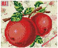 """Набор вышивка бисером """"Красные яблоки"""" А4 (частичная зашивка)"""