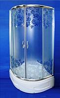 Душова кабіна SANTEH 9021-W FLOWERS 90х90х195 глибокий піддон