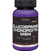 Препарат для восстановления суставов и связок Ultimate Nutrition Glucosamine & Chondroitin + MSM (90 таб)