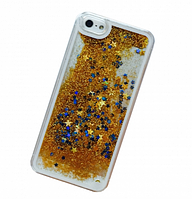 Чехол переливающийся золотой для iphone 5/5S