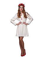"""Женское стильное пальто на весну молочного цвета """"Baby Doll"""", фото 1"""