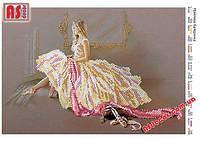 """Набор вышивка бисером """"Мечтающая балерина"""" А4 (частичная зашивка)"""