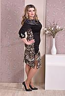 Модное платье больших 60+ размеров 0186 лео