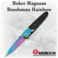 Складной нож Boker Magnum Bondsman Rainbow (440A) 01SC943, клипса, флипер