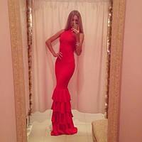 Женское платье длинное красное 185