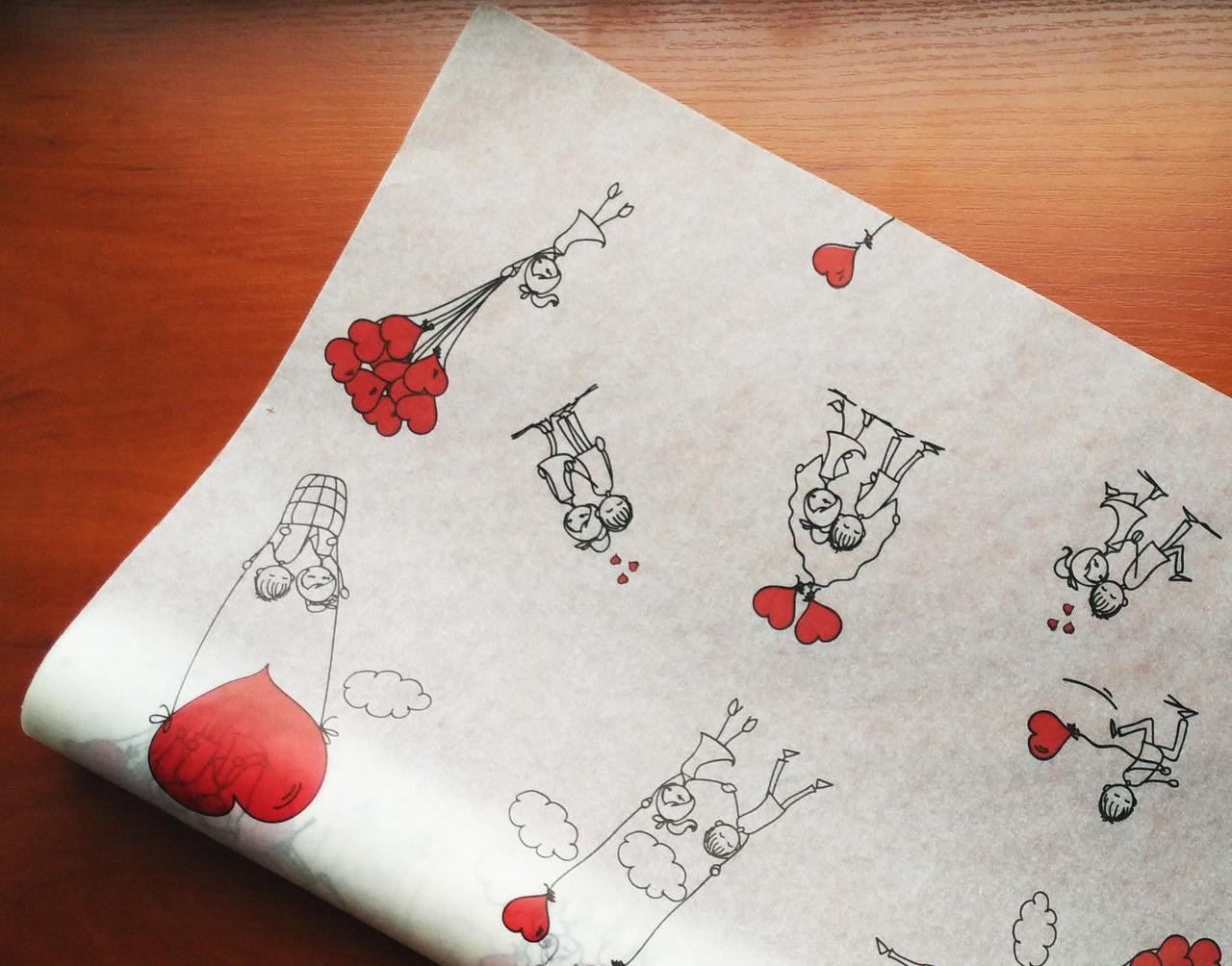 Папір флористична Серця