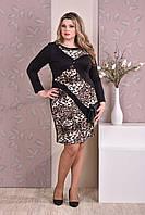 Платье-карандаш больших 60+ размеров 0187 лео