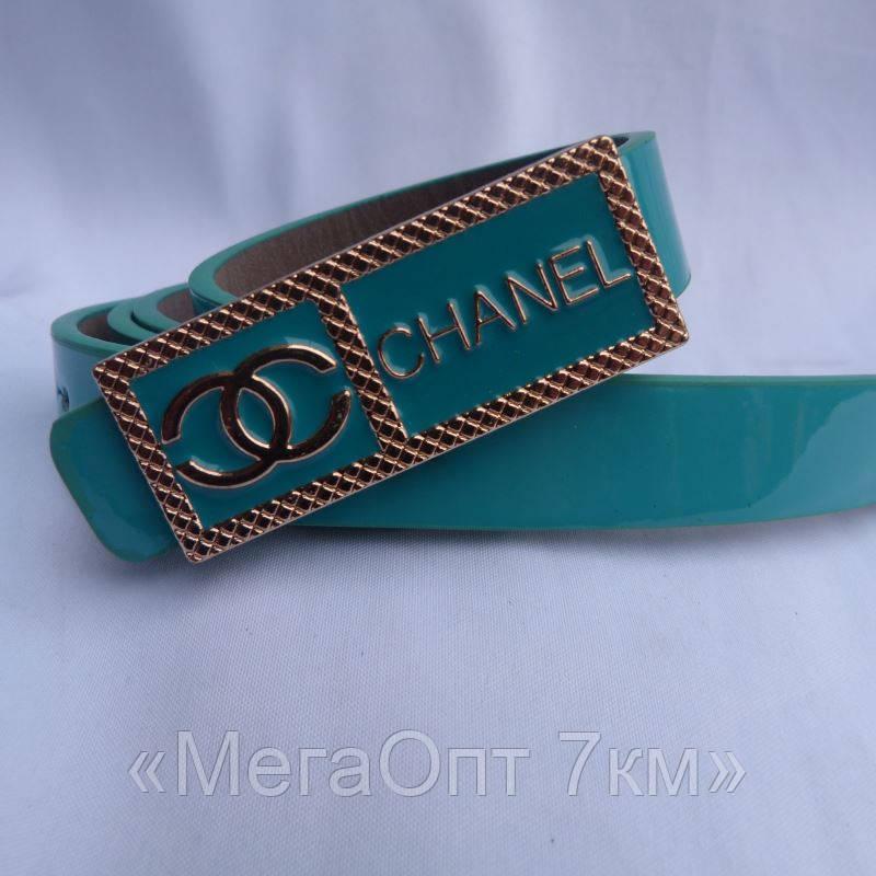 Ремень женский CHANEL БИРЮЗА купить купить оптом дешевые в Одессе на 7км 7км модные новые