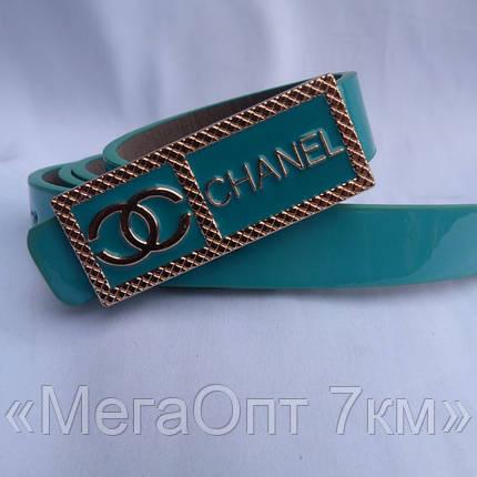 Ремень женский CHANEL БИРЮЗА купить купить оптом дешевые в Одессе на 7км 7км модные новые , фото 2