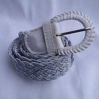 Ремень женский ПЛЕТЕНКА БЕЛЫЙ 40мм купить купить оптом дешевые в Одессе на 7км 7км модные новые