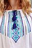 Блузка ручної вишивки, сині багаті орнаменти, фото 2