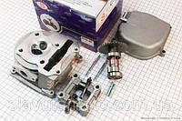 Головка цилиндра+клапана+пастель+распредвал+кр. клапанов 47мм-80cc (S) скутер 50-100 куб.см