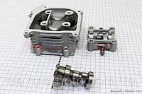 Головка цилиндра+клапана+пастель+распредвал в сборе 50мм-100cc скутер 50-100 куб.см