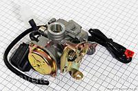 Карбюратор в сборе (метал. крышка, с электроклапаном) скутер 50-100 куб.см