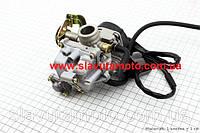 Карбюратор в сборе (пласт. крышка) 80сс CVK скутер 50-100 куб.см, фото 1